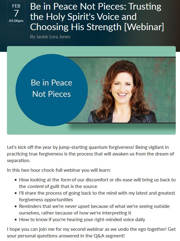 Jackie Lora Jones Webinar 2 Flyer