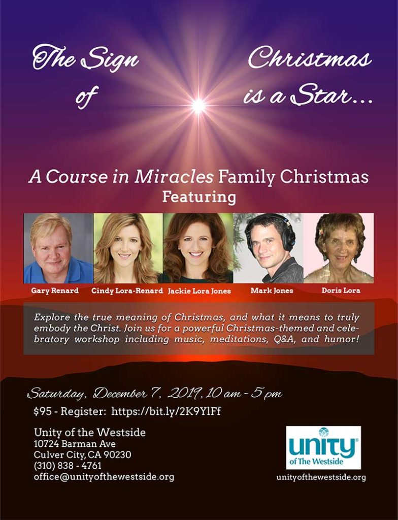 Christmas is a Star Workshop Flyer